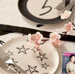 全新星星Agnes b碟及餐桌墊 plate & tablemap