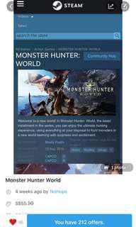 MHW(Monster Hunter World)