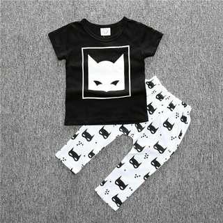 Batman jogger and shirt terno