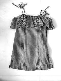 Gingham Off Shoulder Dress