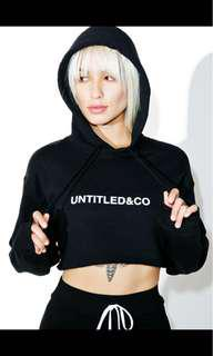 untitled and co cropped hoodie