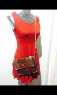 Sling bag brown free sf within Mm
