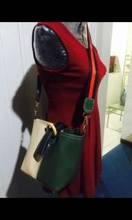 Sling black green with red  free sf MM