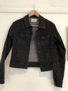 Black Denim Jacket, Size 8 - Silent Theory (Edge Clothing)