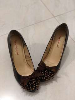 (REPRICE hut RI) sepatu highheels coklat ccf77d7275