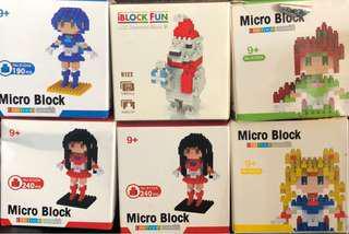 Micro block積木(四個新)