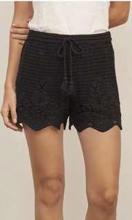Abercrombie & Fitch Black Crochet Shorts XS 6/8