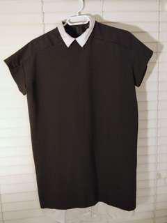 Zara oversized dress with cute collar