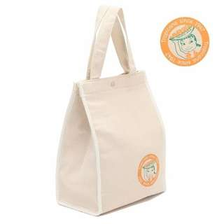 女孩印花麻棉手袋保溫袋 午餐包 飯盒袋