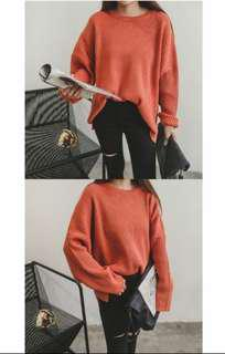Oversized orange sweater/ jumper