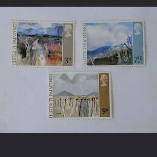 Royal mail Ulster's paintings stamps