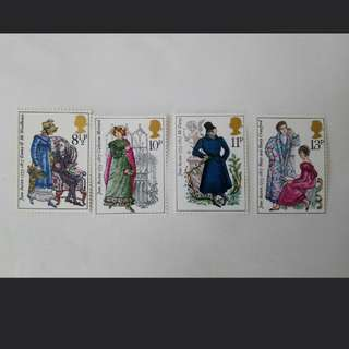 Royal mail Bicentenary of Jane Austen stamps