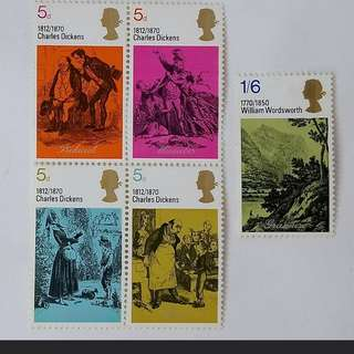 Royal mail Literary Anniversaries stamps