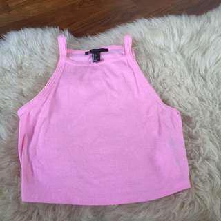 Forever 21 pink halter top