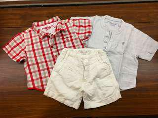 Chateau de Sable Boys Shirts and Shorts