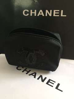 Chanel 化妝袋 🎀 閃片CC logo 🎀專櫃贈品
