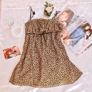 『減價$68』日本野性豹紋性感內衣 情趣內衣 連身裙 可愛 Sex Cute Bra S Size