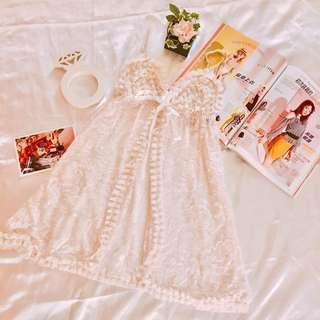 『減價$88』日本可愛白色紗網性感內衣 情趣內衣 連身裙 Sex Cute Bra S Size