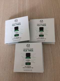 [包郵] $10/1支 The Body Shop 茶樹油 (Sample 試用裝)