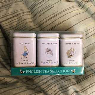 全新只剩一套!大英博物館帶回彼得兔三入鐵盒罐裝英國茶
