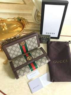 Gucci Ophidia GG Wallet Dark Coffee