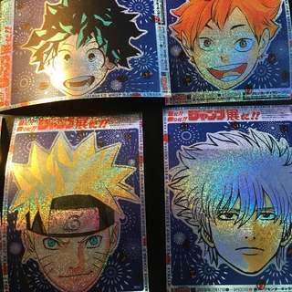 Shonen Jump Foil Stickers Luffy Haikyuu Boku no Hero Academia