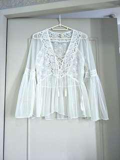 [SOLD] BNEW F21 Coachella blouse