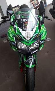 Kawasaki ninja 250 2012 hijau