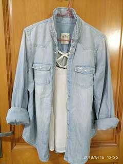 Hoillter 牛仔洗水恤衫外套