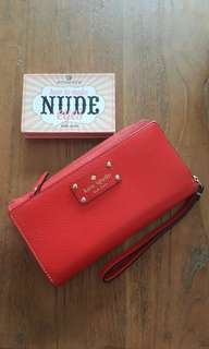 Kate Spade Red Wallet Authentic