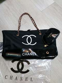 Rose gold set🎈Chanel Tote Bag chain bag and shopping bag