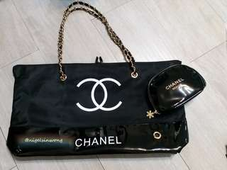 Classic gold🎈Chanel Tote Bag chain bag and shopping bag