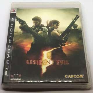 [包郵] PS3 Residence Evil 5 (Free Postage)