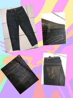 Celana jeans kulit 3/4