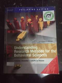 Understanding Research Methods for the Behavioral Sciences- 2nd Edition by Frederick Gravatter and Lori Ann Forzano