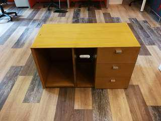 Low cabinet with drawer