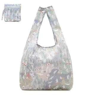 森林白熊圖案可折疊手提袋 環保袋
