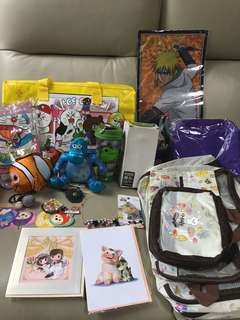 清貨 超平 Disney Disneyland 迪士尼 Line friends doraemon ans 飾物 福袋$100(只有一套,賣完即止)