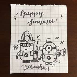 Minions wish you a Happy Summer!