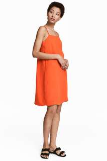 H&M Orange Straight Cut dress