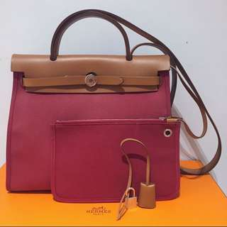 Hermes Herbag 31 Ruby Shoulder Bag 愛馬仕大熱款式