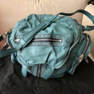 Alexander Wang Marti leather backpack - teal colour