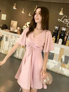 🐝Marie Plain Korean dress