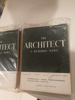 1950's the architect building news magazine $15 each