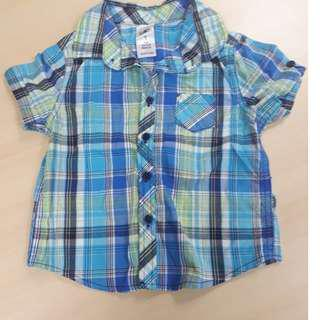 H & T Checkered Polo for Toddlers (Size 1)
