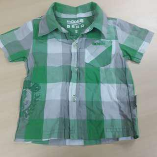 Moose Gear Checkered Polo for Toddlers (Size S)
