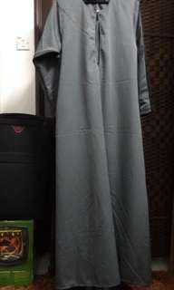 Nursing grey jubah in XL