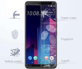 HTC U12+ U12 Plus 透明鋼化防爆玻璃 保護貼 9H Hardness HD Clear Tempered Glass Screen Protector (包除塵淸㓗套裝)(Clearing Set Included)