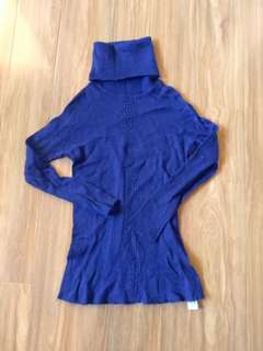 Zara blue knit top xs