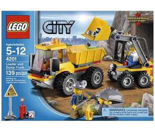4201 Lego City Loader and Dump Truck BNIB